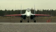 Functional check of combat fighter Stock Footage