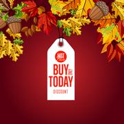 Buy only today label. Hot price. Stock Illustration