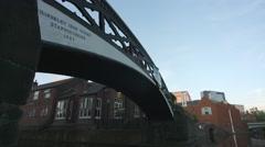 Horseley Iron Works Bridge near Old Turn Junction, Birmingham Stock Footage