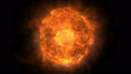 Fire ball abstract flame Stock Footage