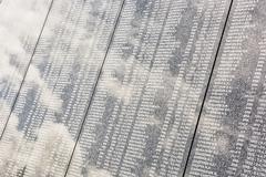 List of the fallen soviet soldiers on military cemetery of Slavin, Bratislava Stock Photos