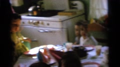 1963: birthday party with friends and presents CAMDEN, NEW JERSEY Stock Footage