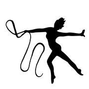 High quality original girl gymnastic doing exercises with gymnas Stock Illustration