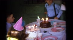 1963: birthday party are fun ,great, and it builds friendship CAMDEN, NEW JERSEY Stock Footage