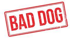 Bad Dog rubber stamp Stock Illustration