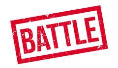 Battle rubber stamp Stock Illustration