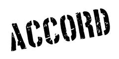 Accord rubber stamp Stock Illustration