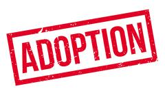 Adoption rubber stamp Stock Illustration