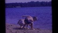 1963: a beach scene is seen CAMDEN, NEW JERSEY Stock Footage
