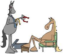 Horse shoes Stock Illustration