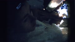 1961: feeding a baby DETROIT, MICHIGAN Stock Footage