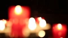 Dark candle light dinner night Stock Footage