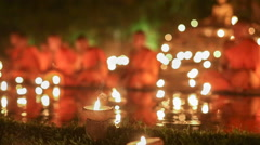Asalha Puja Day , Chiang mai ,Thailand Stock Footage