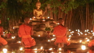 Asalha Puja Day ,, Chiang mai ,Thailand Stock Footage