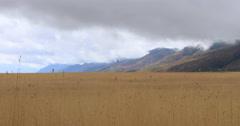 Farm land grain mountain valley storm DCI 4K 418 Stock Footage