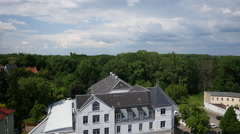Aerial footage of town Stock Footage