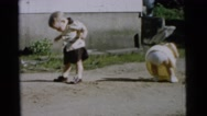 1961: learning to get started when even children and registering  Stock Footage