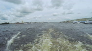 Next astern on river Stock Footage