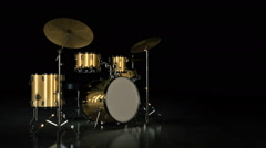 Drum kit. Stock Footage