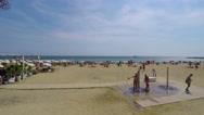 Beach Scene In Late Summer Stock Footage