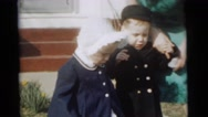 1961: toddlers in sunday best DETROIT, MICHIGAN Stock Footage