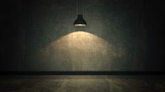 Very dark and dim concrete room Stock Footage