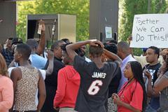 Protesters in Ferguson, Missouri Kuvituskuvat