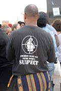 Man with Message on T-Shirt At Ferguson Protest Kuvituskuvat