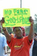 Ferguson Demonstrator Holds Sign Kuvituskuvat