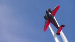 Beech 18 Aerobatic Routine CU Stock Footage