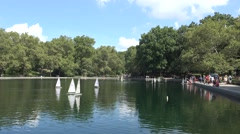 Conservatory Water in Central Park, Manhattan, New York, United States. Stock Footage