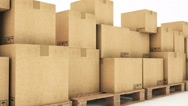 Cardboard boxes Stock Footage