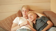 LGBT, same-sex marriage concept - happy male gay couple hugging at home Stock Footage