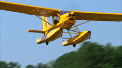 Light Sport Aircraft Take Off Stock Footage