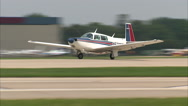Mooney Aircraft Take Off Stock Footage