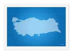 Turkey on blueprint Stock Illustration