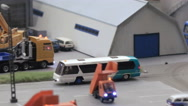 Bus at the airfield Stock Footage