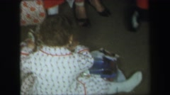 1974: on a very early christmas morning, two small children  Stock Footage