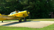 Woman Taxi North American T-6 Airplane Stock Footage