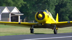 Woman Taxi North American AT-6 Texan Stock Footage