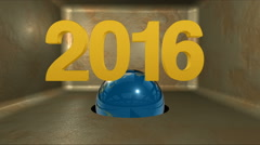 2016 graphic animation Title with Earth Stock Footage
