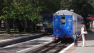 Children's Railway in Globa Park last Chkalov city Dnepropetrovsk Stock Footage