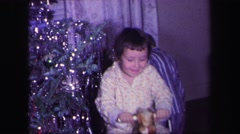 1974: christmas for 3 little boys LYNBROOK, NEW YORK Stock Footage