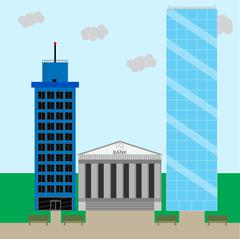 Financial business district Stock Illustration
