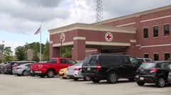 Red Cross Headquarters, Denham Springs, Louisiana  Stock Footage