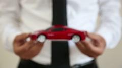 Man toy car show auto Stock Footage