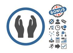 Applause Hands Flat Vector Icon With Bonus Stock Illustration
