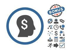 Businessman Flat Vector Icon With Bonus Stock Illustration