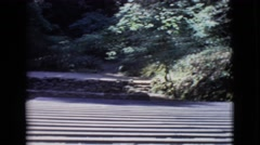 1968: back row view of outdoor auditorium in the day time COTTONWOOD, ARIZONA Stock Footage