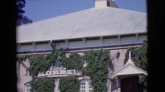 1968: a beautiful church and and old car parked next to it COTTONWOOD, ARIZONA Stock Footage